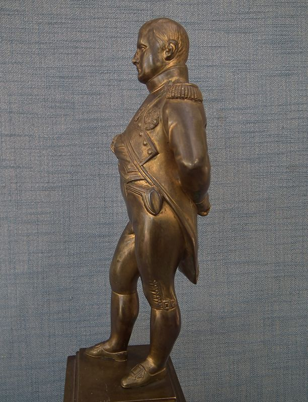 Antique Large Gild Bronze Sculpture of Emperor Napoleon