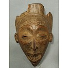 Antique African Wooden Mask Chokwe Angola