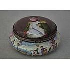 Viennese Silver Enamel Napoleonic Snuff Box Napoleon by Herman Boehm