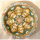 Antique Thailand Tay Benjarong Stem Dish, Early Bangkok