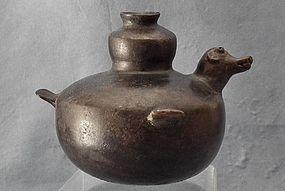 Ancient Colima Pre-Columbian Ceramic Effigy Vessel