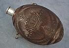 Antique colonial 18th c George III Gun Powder flask