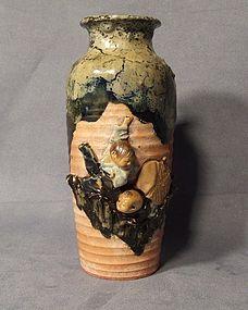 Antique Japanese Sumida Gawa Vase late 19th century