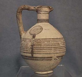 Ancient Cypriot Bichrome Ceramic Wine Jug CYPRUS 750-60