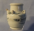 Antique Chinese Celadon Blue White Dropper Ming Dynasty