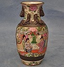 Antique Chinese 19th c Qing Dynasty Famille Rose Vase