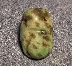 Antique Pre-Columbian Jade Pendant Mezcala