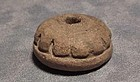 Antique Pre columbian ceramic bead Maya 100 AD