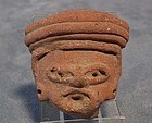 Antique Precolumbian Mayan Circa 500AD to 900 A.D. head