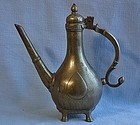 Antique Mughal Northern Indian Islamic Brass Ewer Aftaba 18th Century