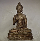Antique 18th � 19th Century Sino Tibetan Bronze Figure Of Buddha