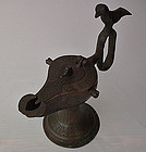 Antique Medieval Islamic Seljuk Seljuq Turks Bronze Oil Lamp Khorasan