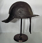 Antique 17th c English Cromwellian Lobster - Tail helmet Harquebusier