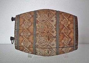 Antique 19th Century Wood Canteen Flask