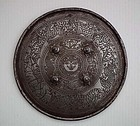 Antique Indo-Persian Indian Sikh Mughal India Gatka Shield Dhal