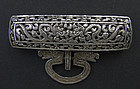 Antique Tibetan Silver Apron Buckle Clasp 19th Century Tibet