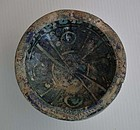 Authentic Antique Islamic Medieval Sultanabad Pottery Bowl 1256-1353AD