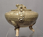 Antique Chinese Liao Dynasty Yue Ware Celadon Censer Incense Burner