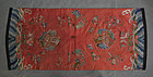 Antique Chinese Embroidery Qing Dynasty Embroidered Satin Silk Panel