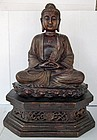 A large Chinese 19th - 20th century Bronze Figure Of Amitabha Buddha