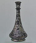 Antique Islamic Indian Bidri Hookah Base Deccan India 19th Century