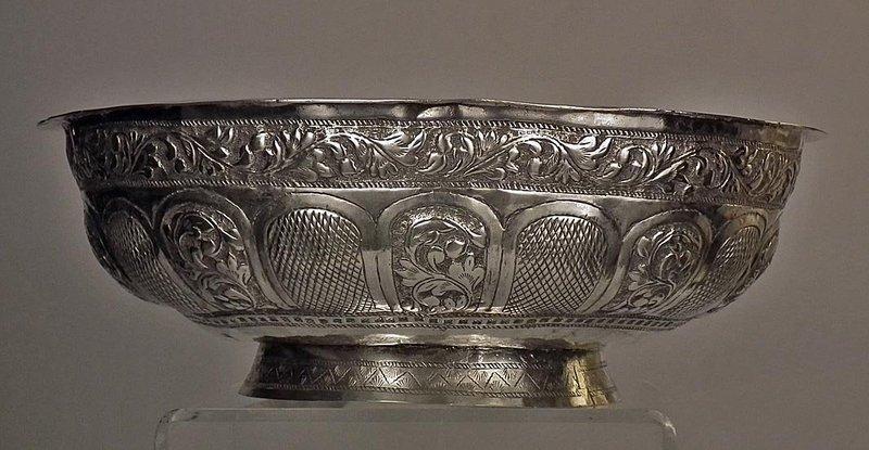 Antique Malaysian Islamic Malay Silver Bowl 19th Century Malaysia