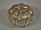 Antique 19th century Islamic Turkish Ottoman Silver Jewelry Box
