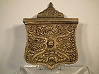 Antique Islamic Turkish Ottoman Balkan Brass Cartridge Pouch Palaska