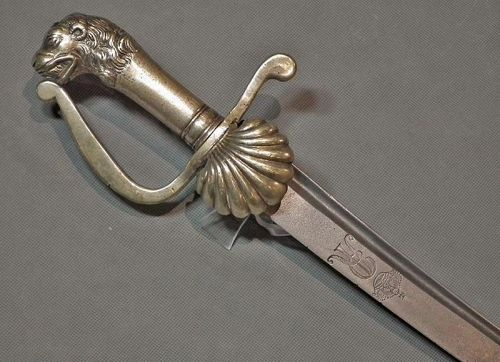 Antique 18th c Polish Saxon Swiss Guards Sword of King Augustus II