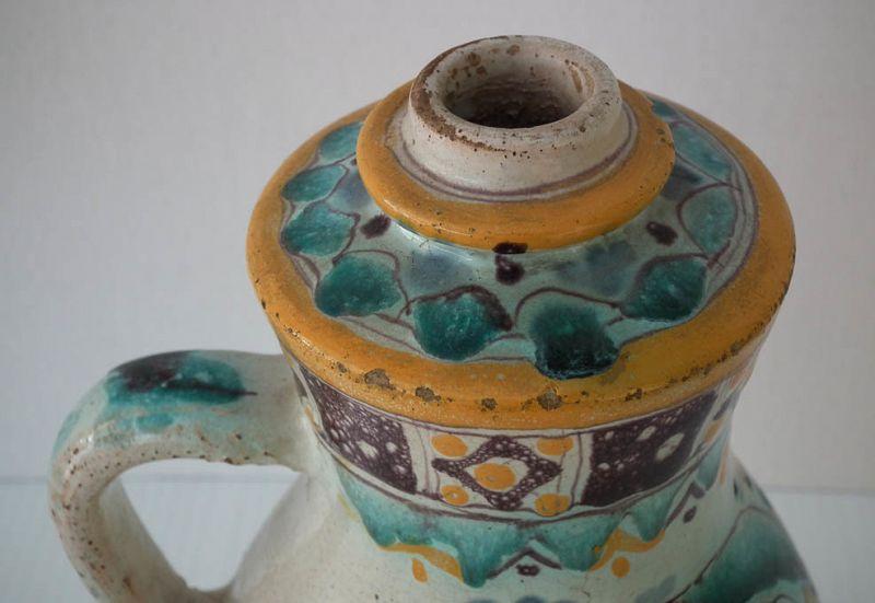 Antique 18th c Hungarian Stomfa Slovak Stupava German Stampfen Jug