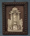 Antique 17-18th C Indo Portuguese Relief Our Lady of Loreto Goa India