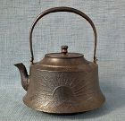 Large Antique Japanese 19th c Meiji Period Teapot Kettle Tetsubin