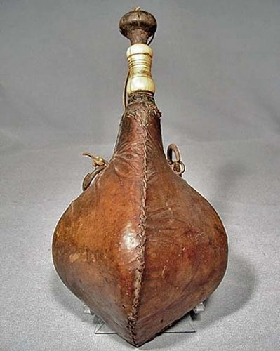 Antique 18th -19th c North African Algeria Morocco Gun Powder Flask