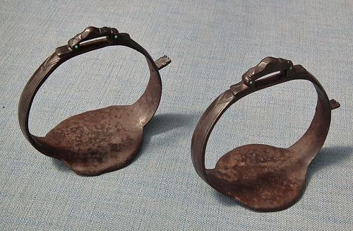 Antique 17th Century Islamic Persian Safavid Saddle Stirrups