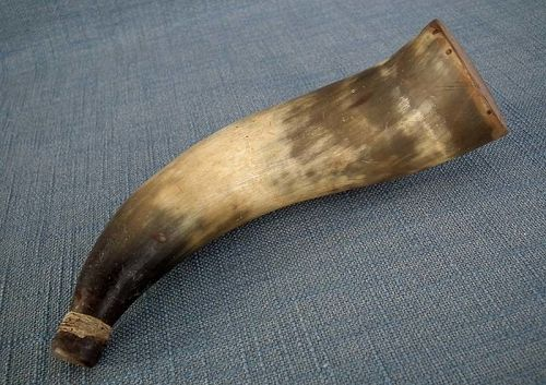 Antique 18th c American Revolutionary War Rifleman Gun Powder Horn