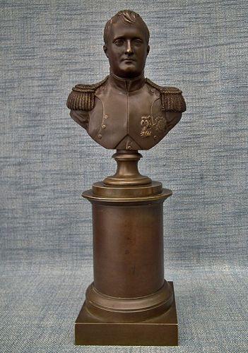Antique 19th Century Bronze Sculpture Busts of Napoleon Bonaparte