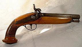 19th Century Belgium Percussion Pistol