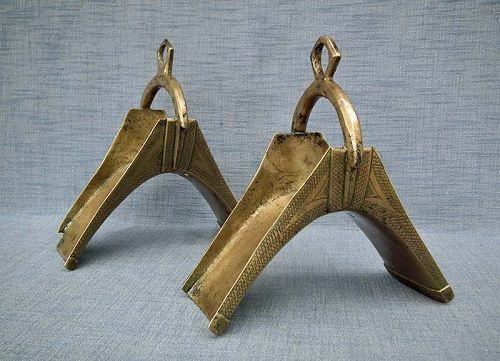 Antique 19th Century African Islamic Hausa stirrups In Turkish Ottoman