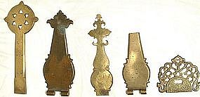 Antique Brass Cabinet Hardware � Hinges, 18th Century