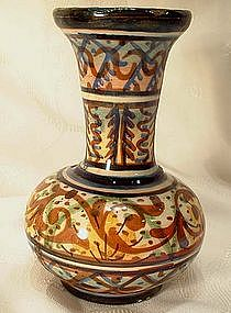ANTIQUE EUROPEAN MAJOLICA VASE, 18th-19th Century