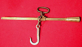 ANTIQUE HANGING YARD SCALE DATED 1903