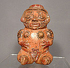Antique Pre-Columbian  Ceramic Nicoya Pottery  Figure