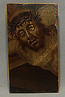 Antique Painting Head of Christ, 18th century