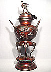 Antique Japanese Bronze Censer, Meiji Period (1868-1912