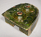 Ancient Chinese Green Glaze Ceramic Han Dynasty Stove