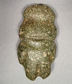 Ancient Axe Figure Mezcala, Pre Columbian (300-100 BC)