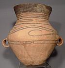 Antique Chinese Neolithic Gansu Ceramic Amphora