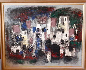 Jun Dobashi Modernism abstract Art original oil