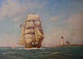Brigantine Sailing off Nova Scotia C.M. Clark