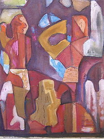 Harold C. Davies California modernist abstract art